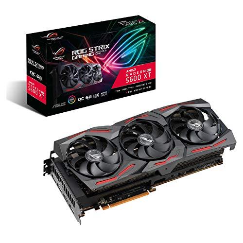 ASUS ROG Strix AMD Radeon RX 5600 XT OC Edition Carte graphique Gaming (PCIe 4.0, 6 Go, mémoire GDDR6, HDMI, DisplayPort, Axial-tech Fan Design (ROG-STRIX-RX5600XT-O6G-GAMING)