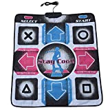 Lazmin USB Tanzmatte, elektronisches Musical Playmat Spielzeug PC USB-Tanzmatte, gepolsterte Matte für EIN Arcade-Gefühl