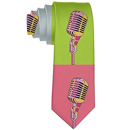 Heren Kleurrijke Microfoon Cool Necktie Tie Zijde Necktie Neck Ties Elegante Neckties