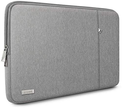 TECOOL Custodia Portatile per 13 Pollici MacBook Air/PRO, 13,5 Surface Laptop, 14'' Lenovo Flex 5/Yoga C740, 14 Pollici Ultrabooks Sleeve Laptop Borsa Protettiva Completa, Grigio