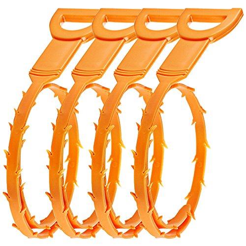 SENHAI Haar Abfluss verstopfen Remover, 4er Pack ablassen Snake Equipment/Auger-Typ Reinigungswerkzeug