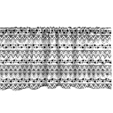Ambesonne Tribal Window Valance, Bohemian Themed Repetitive Pattern with Triangle Zigzags and Arrows, Curtain Valance for Kitchen Bedroom Decor with Rod Pocket, 54' X 12', Charcoal Grey