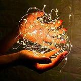 Cadena de alambre de cobre luces de hadas boda fiesta de Navidad decoración de cuento de hadas luces navideñas colores stringhite usb 10m100 leds