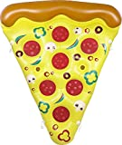 Greenco Giant Inflatable Pizza Slice Pool Float with Connectors with Cup Holders - 2 Pack