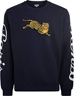 d0bebef8a8e Kenzo Jumping Tiger Blue Fleece with Maxi Patch, Size UK: