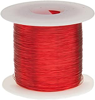 """Remington Industries 29SNSP 29 AWG Magnet Wire, Enameled Copper Wire, 1.0 lb, 0.0121"""" Diameter, 2520` Length, Red"""