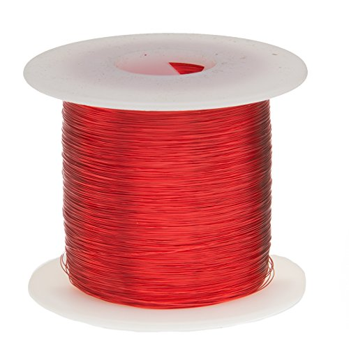 Remington Industries 28SNSP Magnet Wire, Enameled Copper Wire, 28 AWG, 1.0 lb, 2027' Length, 0.0135