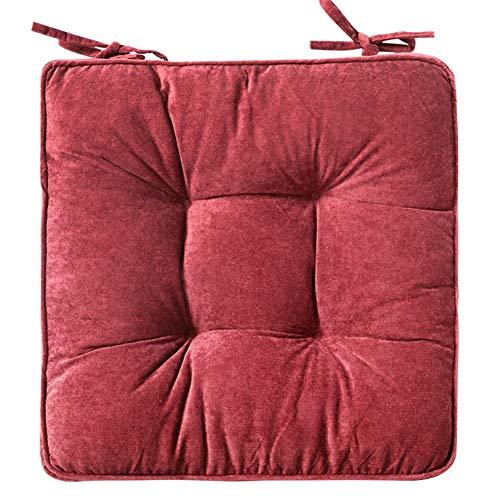 Ericcay Booster Seat Slip Antiscivolo Cuscino Extra Spessa Cordino Square Unico Office Car Car Adulto Cuscino per Bambini Cuscino per Seduta A 42X42Cm (17X17Inch) (Color : Burgund, Size : 42X42Cm)
