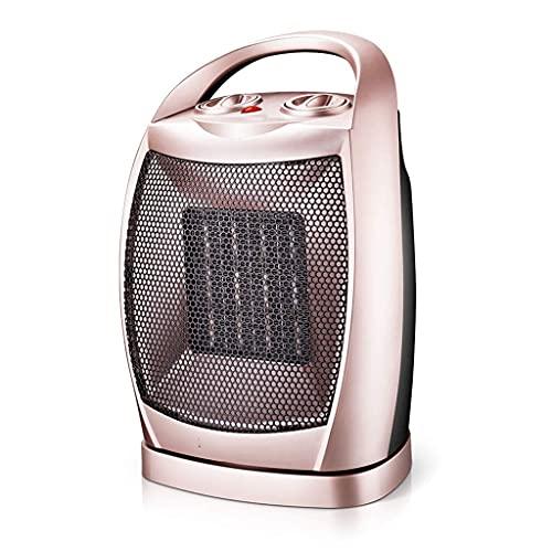 MIEMIE Calentador de Ventilador Calentador Mini Calentador de Espacio eléctrico portátil con Controlador de termostato Puede sobrecalentar el Escritorio de protección