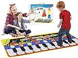 Queta Piano Matte, 19 Tasten Musik Tanzmatte Klaviermatte Musikmatte, 5 Modi & 8 Musikinstrument Spielzeug Touch Keyboard Musik Matte (110 * 36cm) -