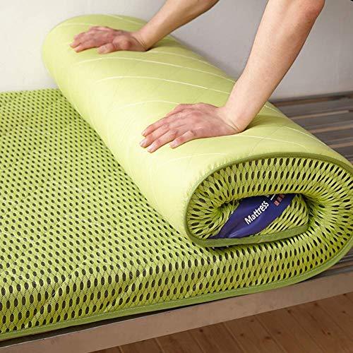 BH Tatami mat, soft Futon mattress for thick floors Japanese bed roll Student dormitory mattress, green folding guest mattress 100x200 cm (39x79 inches)