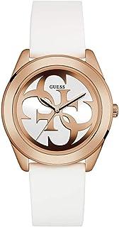 ساعة يد بمينا باللون الذهبي وسوار من الجلد للنساء من جيس، W0911L5
