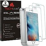 TECHGEAR [2 Pezzi Vetro Temperato Compatible con iPhone 6s, iPhone 6 4.7' Pulgada - Auténtica Protector de Pantalla Vidro Templado para Apple iPhone 6, iPhone 6s