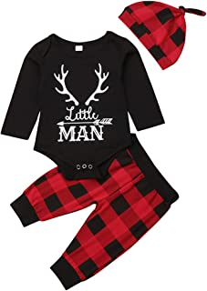 Baby Girls Boys Christmas Clothes Long Sleeve Romper + Pants + Headband 3pcs Outfit Set