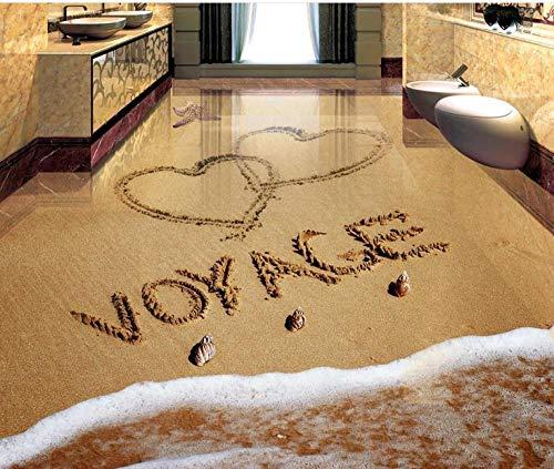 custom European beach 3d flooring wallpaper Romantic beach For living room bedroom bathroom 3d wallpaper Waterproof floor-200 * 140cm