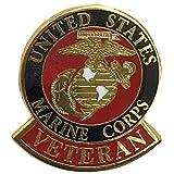 EagleEmblem 米国海兵隊退役軍人ロゴエンブレムラペル/帽子ピン