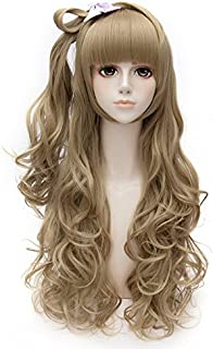 COOLSKY 27.5 Inch Long Curly Wavy Wig Flaxen Brown Love Live! Kotori Minami Anime Cosplay Costume Party Halloween Wig