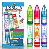 YoYa Toys Liquipen - Liquid Motion Bubbler Pens Sensory Toy (3 Pack)