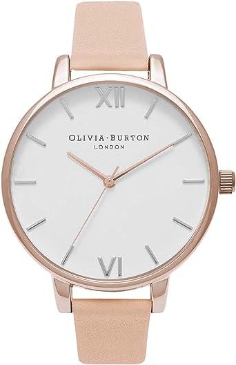 Olivia Burton Reloj Analógico para Mujer de Cuarzo japonés con Correa en Cuero OB16BDW21