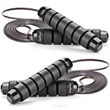 Jump Rope Skipping Rope for Workout, Jumping Rope Jump Ropes for Fitness (Black Black)