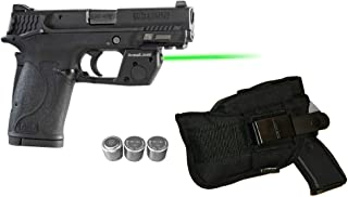 Laser Kit for S&W Smith-Wesson M&P 380 Shield EZ, M&P22 Compact w/LASERPRO Holster, Touch-Activated ArmaLaser TR28 Green Laser Sight & 2 Extra Batteries