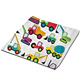 """1-Pack 13"""" Face Bath Towel Set Hand Towels and Washcloths Microfiber Dish Cloth, Cute Style Vehicles Heavy Equipment Forklift Earthmover Excavator Mixer -  GULTMEE"""