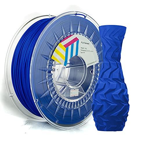 Eolas Prints | Filamento PLA 1.75 1Kg | Impresora 3D | Fabricado en España | Apto para uso alimentario y crear juguetes y envases | 1,75mm | 1Kg | Azul