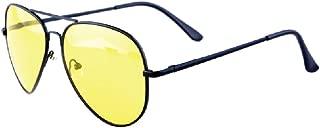 Night Driving Glasses,HD Anti Glare Night Vision Glasses,Aviator Polarized Yellow Lens for Car Women/Man