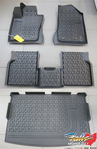 Jeep Compass New MP Body Style Front & Rear Slush Mats and Cargo Tray OEM