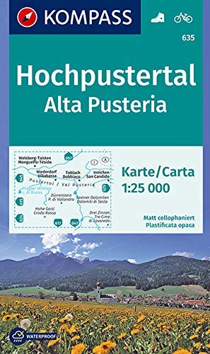 Carta escursionistica n. 635. Alta Pusteria-Hochpustertal 1:25.000. Ediz. bilingue: Wanderkarte mit Radtouren. GPS-genau. 1:25000