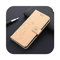 Z-M01 for サムスンギャラクシーS8S9プラスS10EライトS20ウルトラS4S5 S6S7エッジレザーホルダーカードスロットウォレットカバー用の豪華な折り畳み式携帯電話ケース-Gold-for S20 Ultra