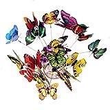 50 pezzi colorato giardino farfalle su bastoncini di farfalla decorazioni ornamenti per pa...