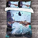 N \ A ARK Juego de edredón de supervivencia, juego de cama de 3 piezas, juego de cama de 86 x 70 pulgadas, con 1 juego de edredón y 2 fundas de almohada, suave y cómodo