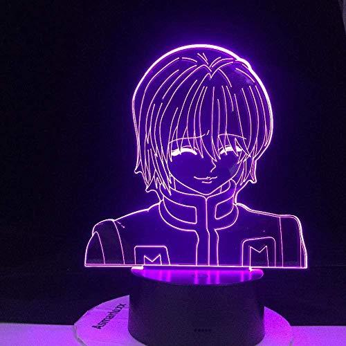 Lámpara de noche 3D de anime japonés, ilusión LED, decoración de Kurapika, figura 3D, anime, regalo de anime, lámpara de noche para niños, dormitorio, decoración, iluminación infantil MAOJIE