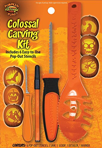 10 Piece Colossal Pumpkin Carving Kit - Party Supplies(assorted colors)