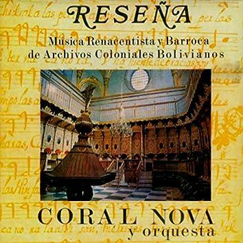 Reseña | Música Renacentista y Barroca de Archivos Coloniales Bolivianos