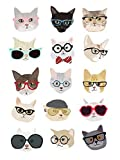 YISUMEI 40' x 50' Blanket Comfort Warmth Soft Plush Throw for Couch Adorable Glasses Wearing Hipster Cats