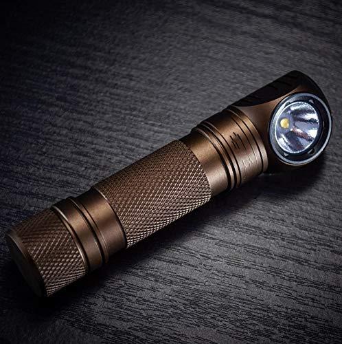 WWWL Linterna Frontal Faro LED USB Linterna Recargable Faro con imán Brown