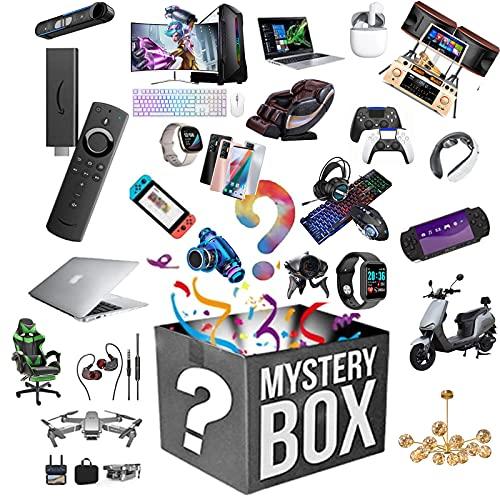 ASASX Boîte Mystery Boîte électronique et chanceuse Boîte Aveugle, comme des Montres GamePads Fan USB et Beaucoup d'autres, Excellent Rapport qualité/Prix, Articles aléa
