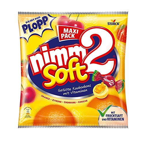 nimm2 soft (1 x 345g) / Kaubonbons mit Fruchtsaft & Vitaminen