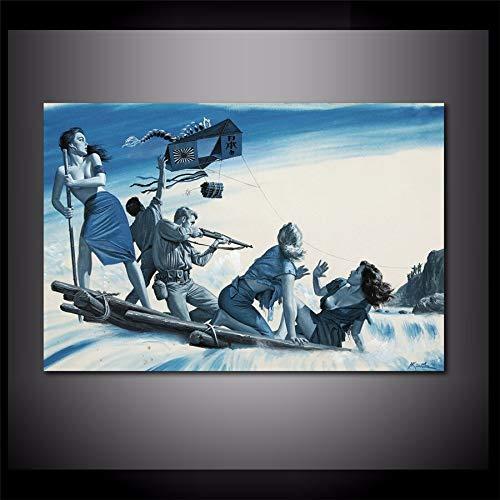 sanzangtang Rahmenlose MalereiHistorische Schönheit und Leinwand im amerikanischen Stil Leinwand Wohnzimmer Dekoration20X30cm