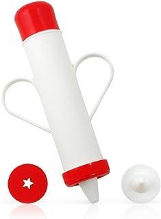 comprar comparacion Metaltex Churrera Decoradora, Blanco y Rojo, 20 cm