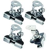 HAMILO ワークライト取付金具セット 作業用照明器具取付用 ベースメント (4個セット)