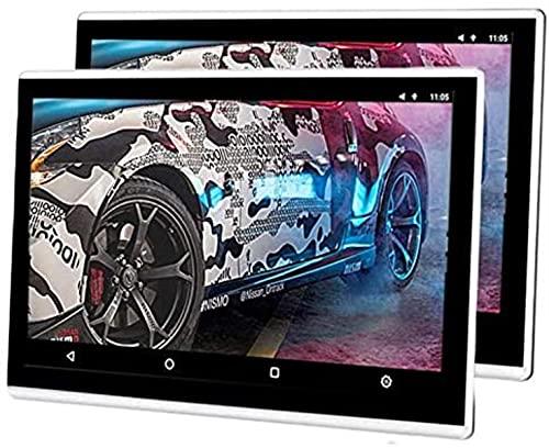 Pantalla Reproductor de DVD Asiento Trasero del automóvil Reposacabezas Reproductor de DVD portátil, Android 6.0 Tableta Reposacabezas Monitor Multimedia, 1080P Video Auto Juegos HDMI