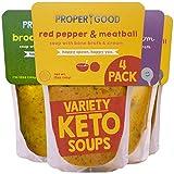 Keto Gluten Free Soup Variety by Proper Good, Broccoli Cheddar, Chicken & Mushroom, Red Pepper...
