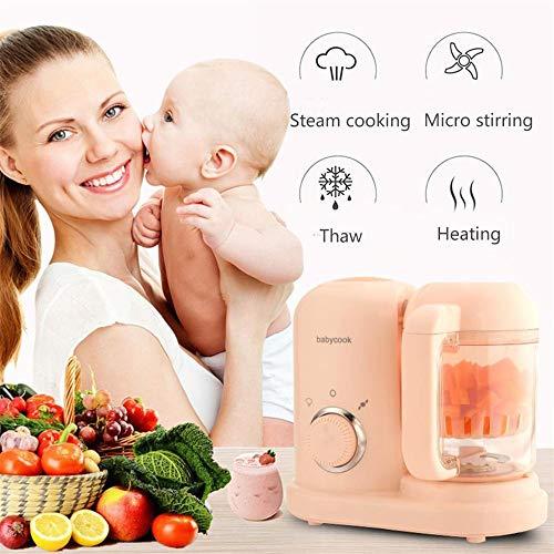 JIASHU Babynahrung, 5-in-1-Kaffeemaschine für Kleinkinder mit Dampf, Mix, Kotelett, Sterilisator, Auftauen, Reinigungsfunktion, Einhandbedienung, automatischer Abschaltung