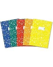 HERMA 20211 Scholydoo - Juego de 5 sobres para cuadernos escolares (DIN A4, con etiqueta para escribir, de lámina de polipropileno resistente y lavable, 5 protectores para cuadernos escolares