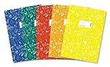Herma 20211 Schoolydoo - Copertina per quaderno, formato A4, in plastica, set da 5 pezzi per ogni colore: blu, rosso, verde, giallo, arancione, con motivo