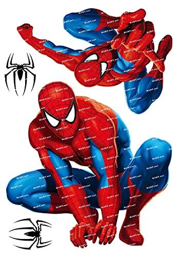 SHUHU Grande F0163-03 Spider-Man Marvel Dibujos Animados de Dibujos Animados portátil teléfono Maleta Pegatina Impermeable