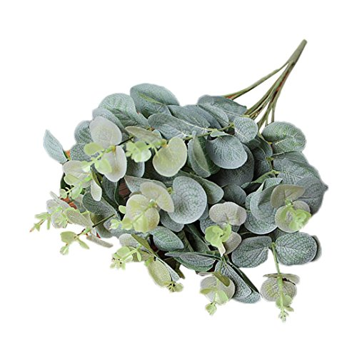 Jamicy Ramo de eucalipto Artificial, Hojas y Flores de decoración, para Fiestas y Bodas, en casa